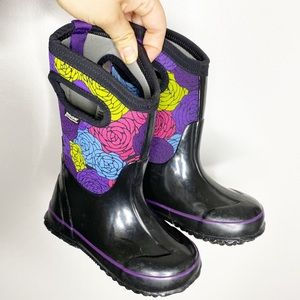 Bogs Floral Classic Rosey Winter Snow Rain Boots